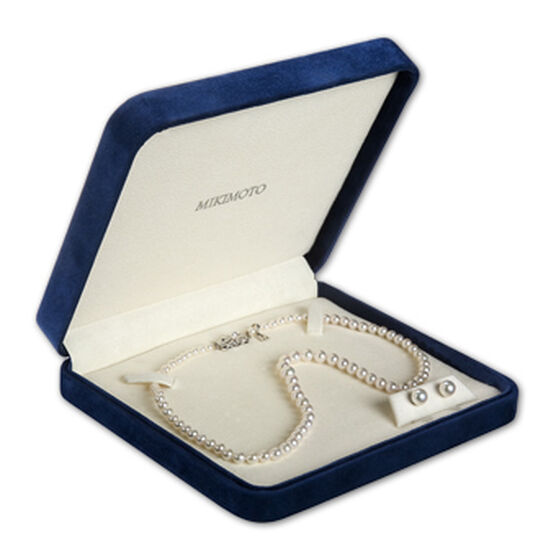 Mikimoto Akoya Cultured Pearl Strand & Earring Set 18K, 17""