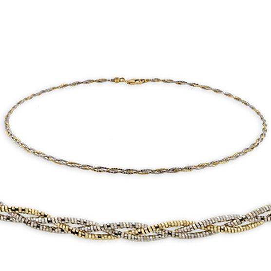 Weave Link Necklace 14K