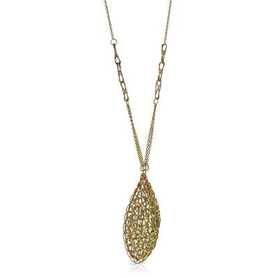 Toscano Woven Pendant Necklace 14K