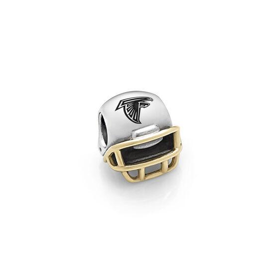 PANDORA Atlanta Falcons NFL Helmet, Silver & 14K
