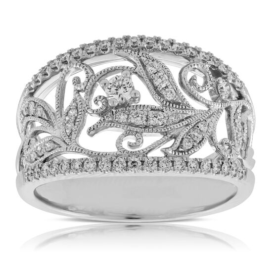Diamond Floral Filigree Ring 14K