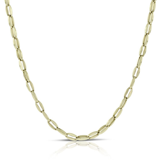 Toscano Polished Link Necklace 14K