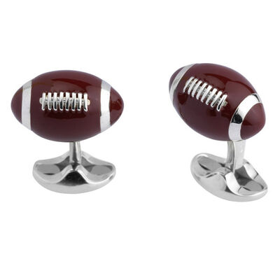 Deakin & Francis American Football Cufflinks in Sterling Silver