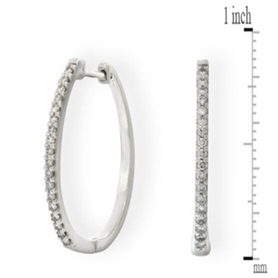 Diamond Hoop Earrings 14K