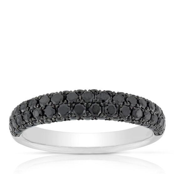 Black Diamond Pave Ring 14K, Stock Size 6.5
