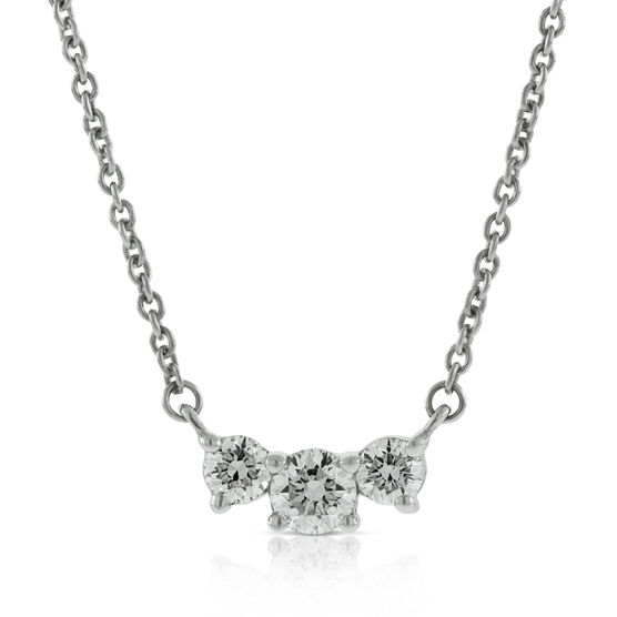 Triple Diamond Necklace 14K