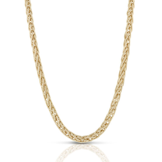 Toscano Collection Solid Spiga Chain Necklace 18K