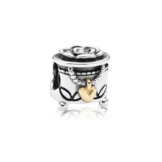 PANDORA Pandora's Box Charm, Silver & 14K