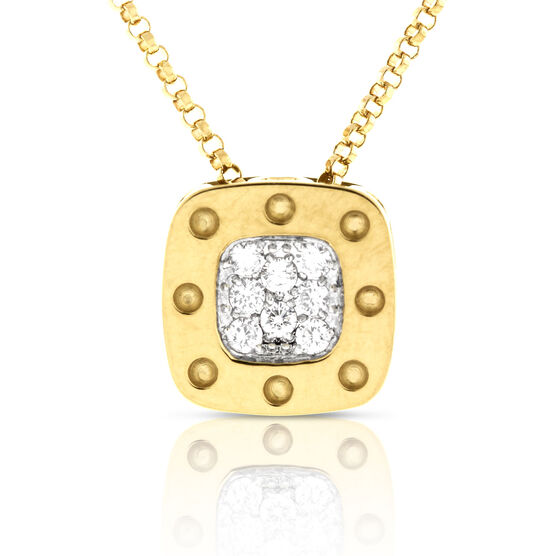 Roberto Coin Diamond Pendant 18K