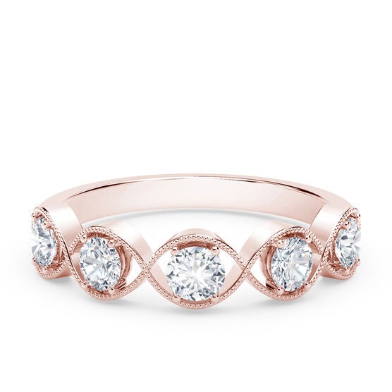 The Forevermark Tribute™ Collection Braided Five Stone Ring, 18K Rose Gold