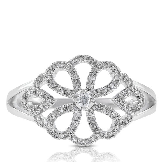 Floral Diamond Ring 14K