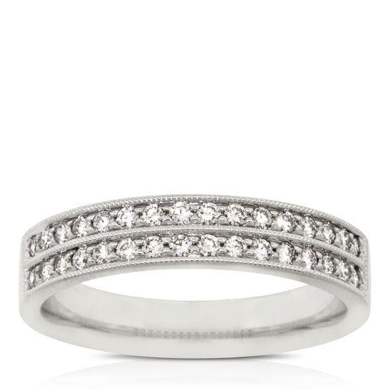 Double Row Diamond Band 14K