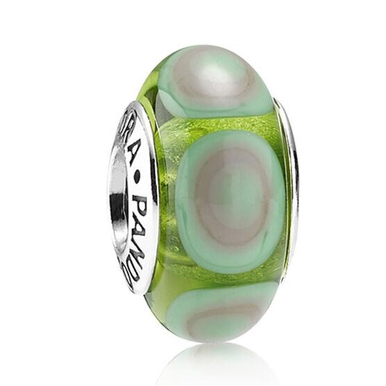 PANDORA Green Stepping Stone Charm RETIRED