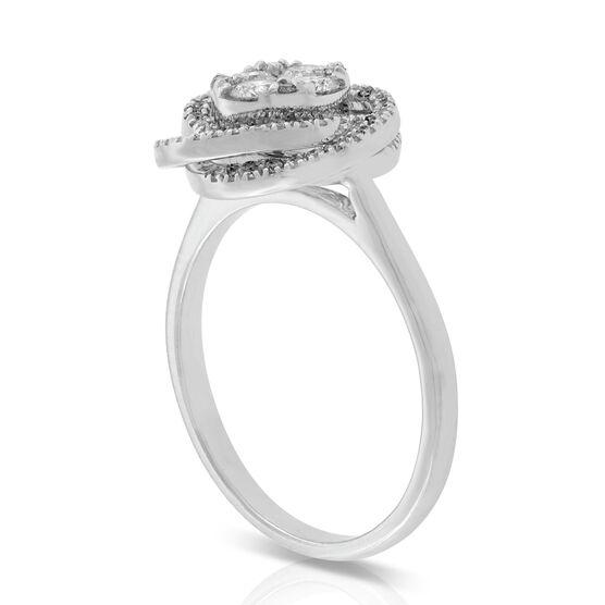 Knot Diamond Ring 14K