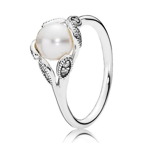Pandora Luminous Leaves Cultured Pearl Ring