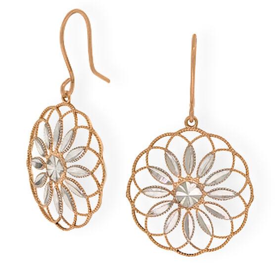 Flower Earrings 14K