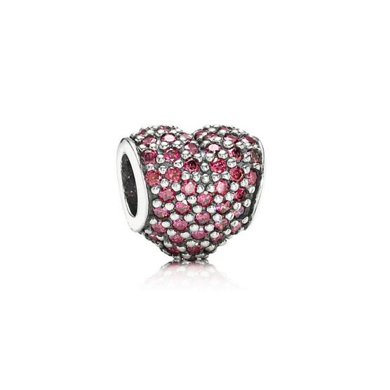 PANDORA Red Pave Heart Charm
