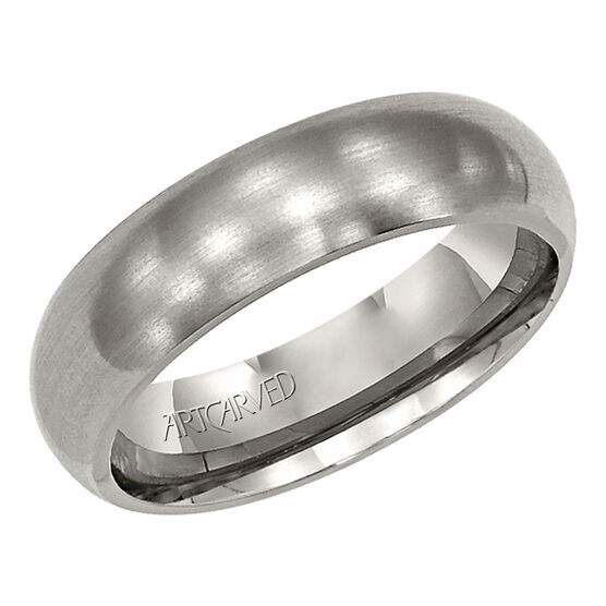 Men's ArtCarved Band in Titanium