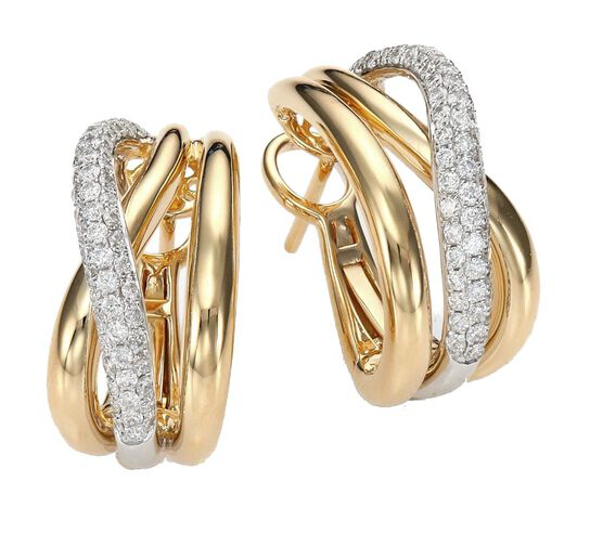 Roberto Coin Crossover Diamond Earrings 18K