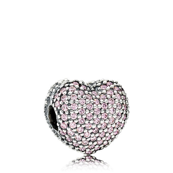 PANDORA Open My Heart CZ Charm
