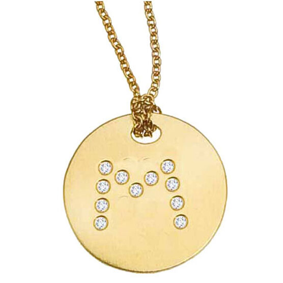 Roberto Coin Diamond Initial Pendant 18K Letter 'M'