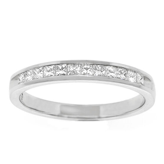 Princess Cut Diamond Band 14K