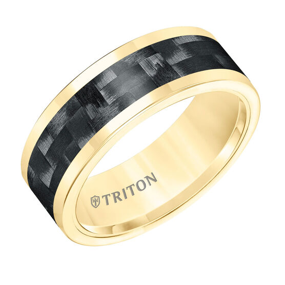 TRITON Yellow Tungsten & Carbon Fiber Band
