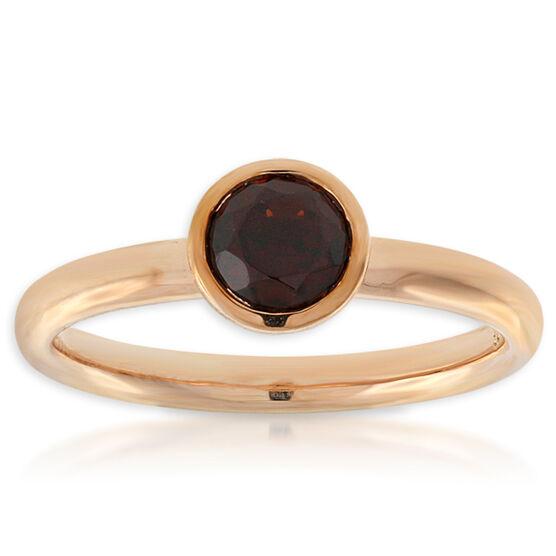 Garnet Stackable Ring 14K Rose Gold