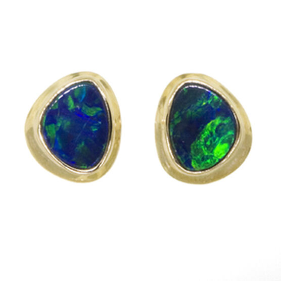 Opal Doublet Earrings 14K