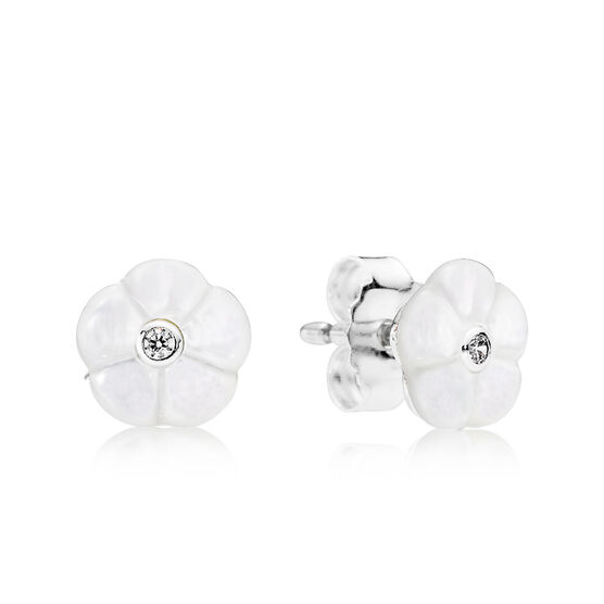 PANDORA Luminous Floral Earrings