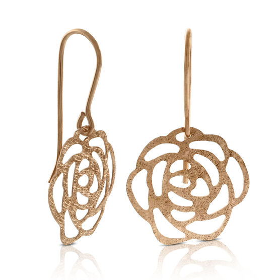 Rose Gold Dangle Earrings 14K