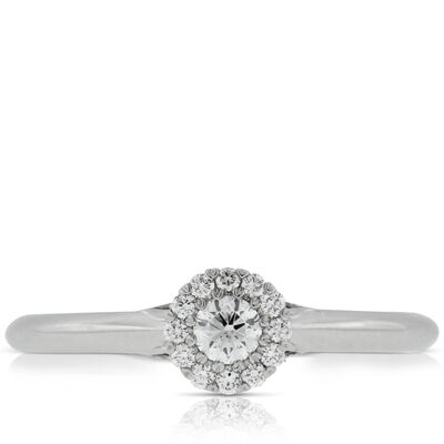 Halo Cupcake Diamond Ring 14K