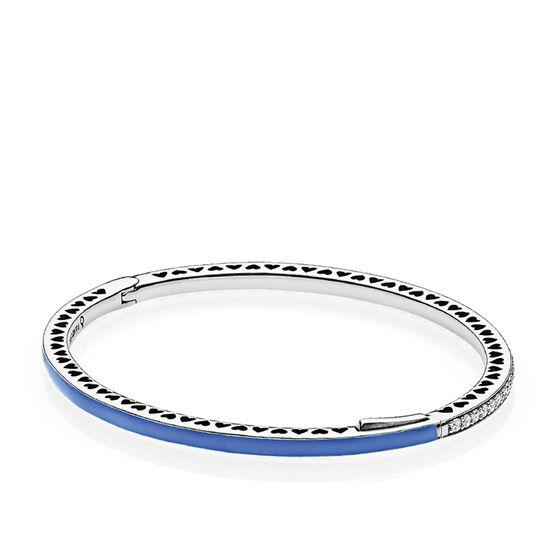 Radiant Hearts of PANDORA, Princess Blue Enamel & CZ Bracelet