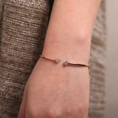 Rose Gold Diamond Flex Bangle 18K