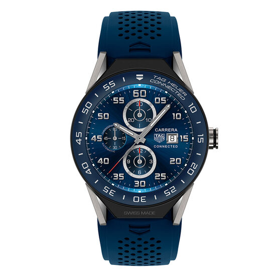 TAG Heuer Connected Watch, Blue Rubber Strap