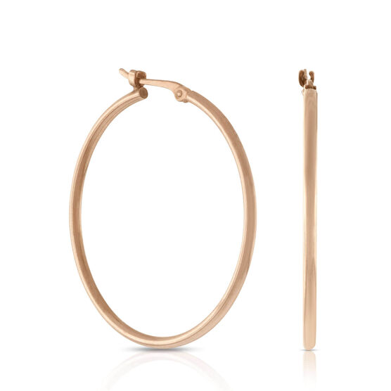 Hoop Earrings 14K Rose