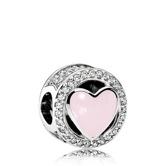 PANDORA Wonderful Love Enamel & CZ Charm