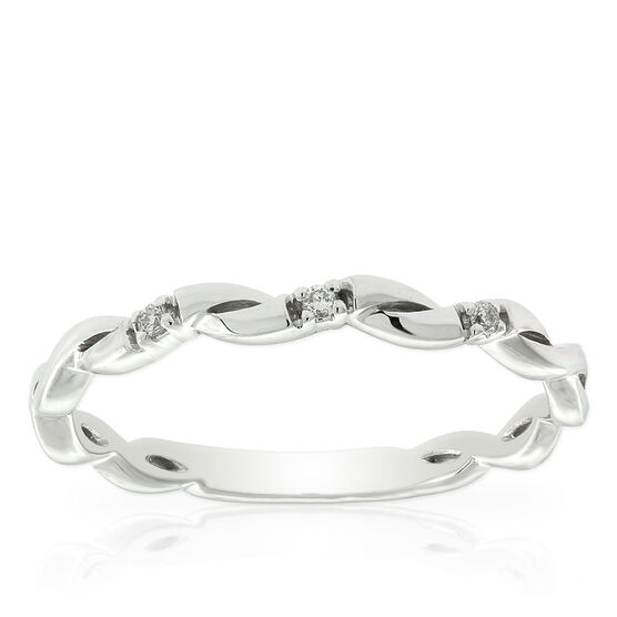 Diamond Twist Midi Ring 14K