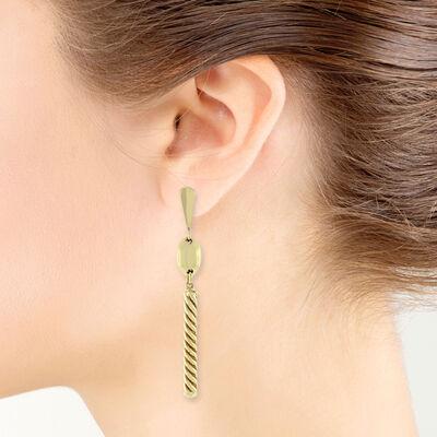 Toscano Swirl Bar Earrings 14K