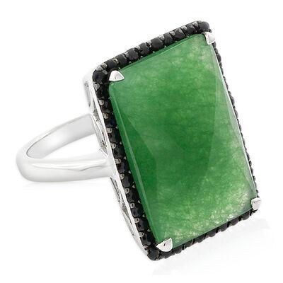 Lisa Bridge Chalcedony & Black Sapphire Cocktail Ring