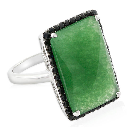Lisa Bridge Chalcedony & Black Sapphire Cocktail Ring