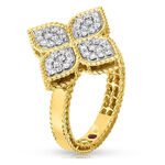 Roberto Coin Princess Flower Diamond Ring 18K