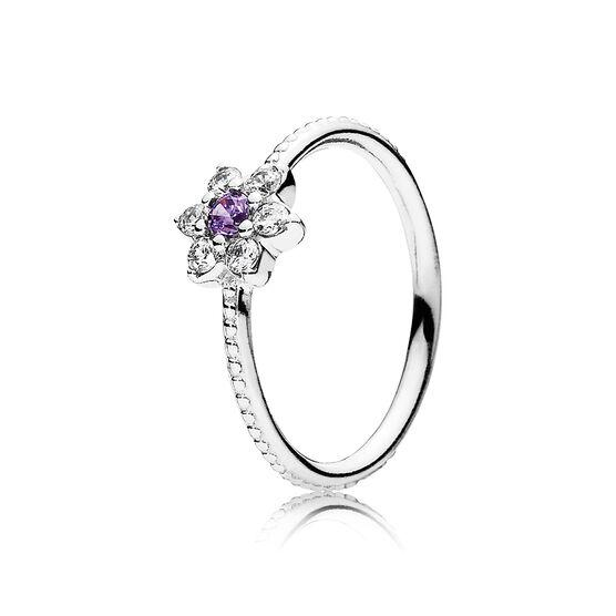 PANDORA Purple Forget Me Not Ring
