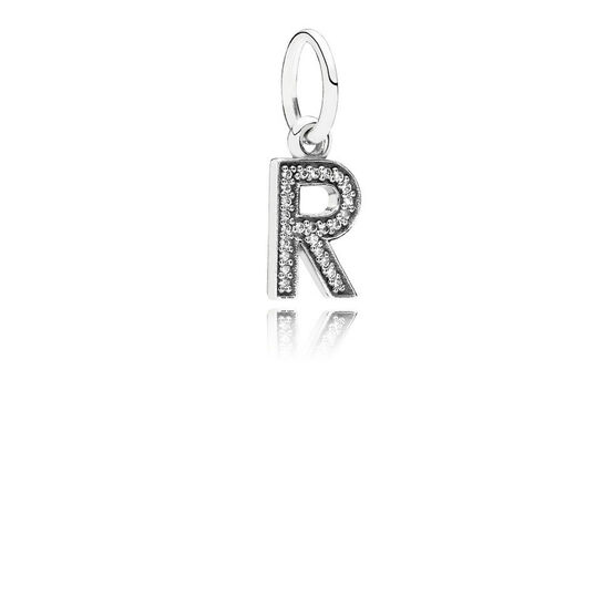 PANDORA CZ Dangle 'R' Charm