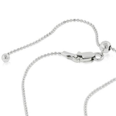 """Sliding Length Bead Chain 22"""" 14K"""