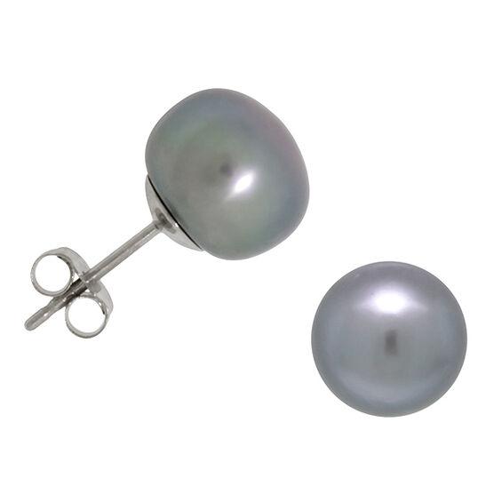 Dyed Freshwater Cultured Pearl Earrings 14K