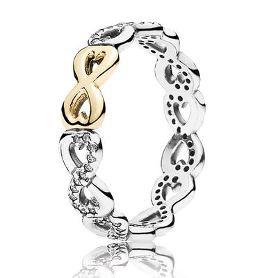 PANDORA INFINITE LOVE RING, SILVER & 14K