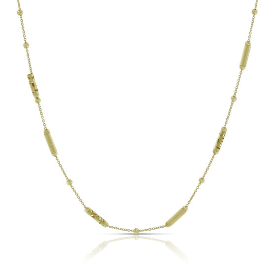 Toscano Diamond-Cut Bead Necklace 18K, 24""