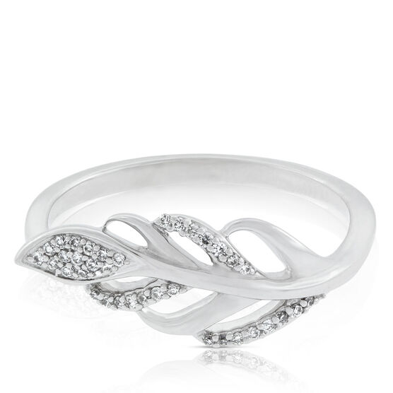 Diamond Leaf Ring 14K