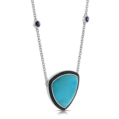 Lisa Bridge Turquoise & Black Sapphire Necklace